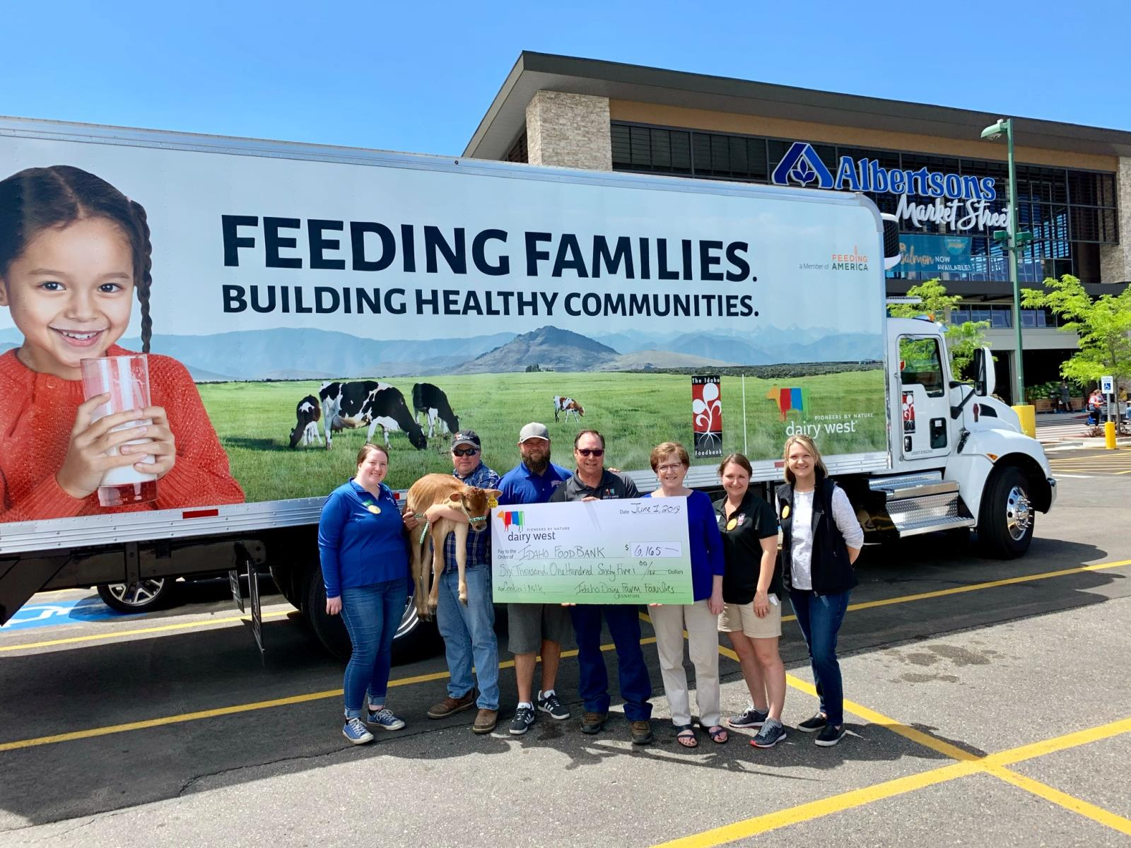 Dairy West recently donated this new refrigerated truck to the Idaho Foodbank to increase the nonprofit's ability to safely store milk and other perishable food products and deliver them to food pantries throughout Idaho.